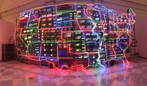 Kunstinstallation im National Art Museum